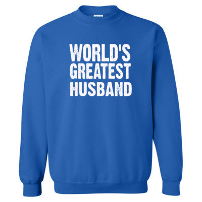 Worlds Greatest Husband - Heavy Blend™ Crewneck Sweatshirt S-Royal- Cool Jerseys - 1