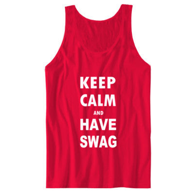 Keep Calm And Have Swag - Unisex Jersey Tank S-Red- Cool Jerseys - 1