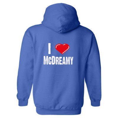 I Love McDreamy tshirt - Heavy Blend™ Hooded Sweatshirt BACK ONLY S-Royal- Cool Jerseys - 1
