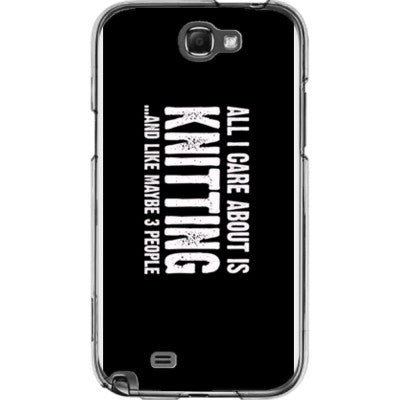 All i Care About is Knitting And Like Maybe Three People - Samsung Note 2 Cover - FREE SHIPPING WITHIN USA OS-Clear- Cool Jerseys