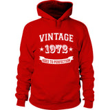 Vintage 1972 Aged To Perfection tshirt - Hoodie S-Cherry Red- Cool Jerseys - 1