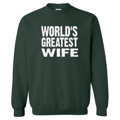 Worlds Greatest Wife - Heavy Blend™ Crewneck Sweatshirt S-Forest- Cool Jerseys - 1