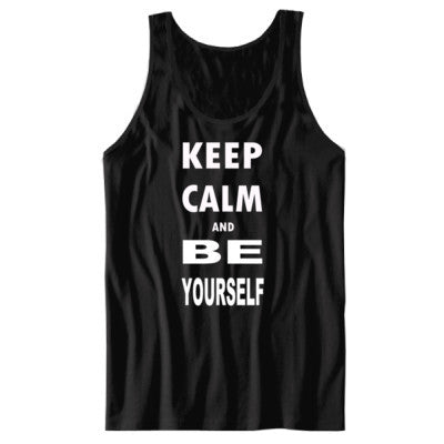 Keep Calm and Be Yourself - Unisex Jersey Tank - Cool Jerseys - 1