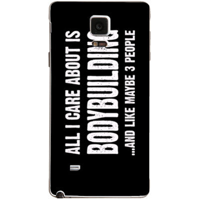 All i Care About is Bodybuilding And Like Maybe Three People - Samsung Note 4 Cover - FREE SHIPPING WITHIN USA OS-Clear- Cool Jerseys