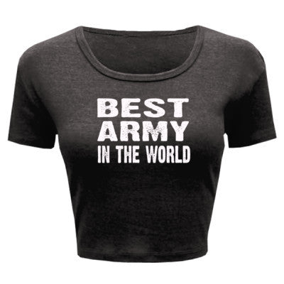 Best Army In The World - Ladies' Crop Top XS/S-Deep Heather- Cool Jerseys - 1