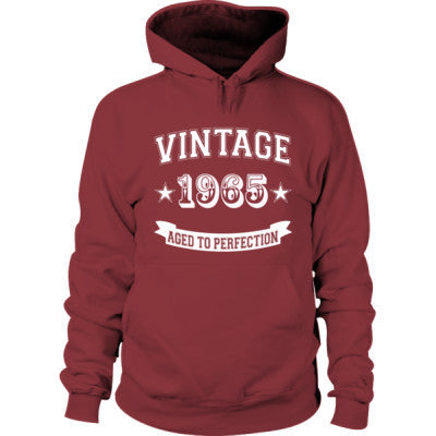 Vintage 1965 Aged To Perfection - Hoodie S-Maroon- Cool Jerseys - 1