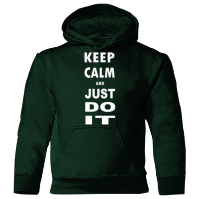 Keep Calm And Just Do It - Heavy Blend Children's Hooded Sweatshirt S-Forest Green- Cool Jerseys - 1