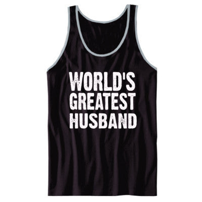 Worlds Greatest Husband - Unisex Jersey Tank XS-Black- Cool Jerseys - 1