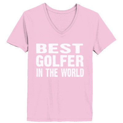 Best Golfer In The World - Ladies' V-Neck T-Shirt - Cool Jerseys - 1