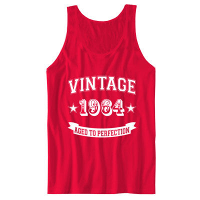 Vintage 1964 Aged To Perfection - Unisex Jersey Tank - Cool Jerseys - 1