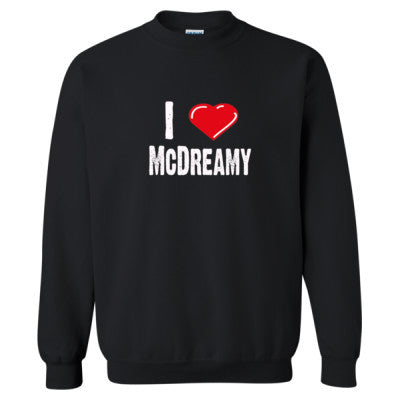 I Love McDreamy tshirt - Heavy Blend™ Crewneck Sweatshirt S-Black- Cool Jerseys - 1