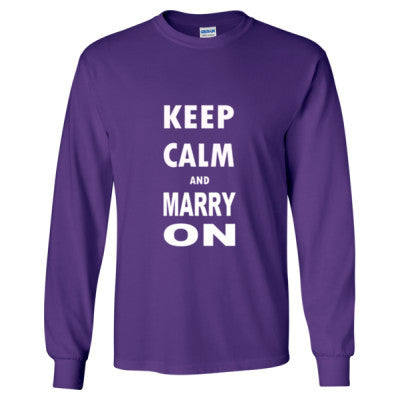 Keep Calm And Marry On - Long Sleeve T-Shirt - Cool Jerseys - 1