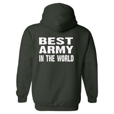Best Army In The World - Heavy Blend™ Hooded Sweatshirt BACK ONLY S-Forest- Cool Jerseys - 1