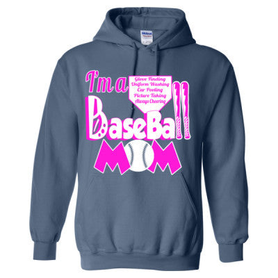 Baseball Mom Tee - Heavy Blend™ Hooded Sweatshirt S-Indigo Blue- Cool Jerseys - 1