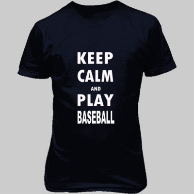 Keep Calm And Play Baseball - Unisex T-Shirt FRONT Print - Cool Jerseys - 1