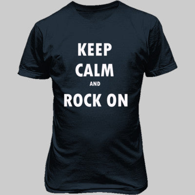 Keep Calm And Rock On - Unisex T-Shirt FRONT Print - Cool Jerseys - 1