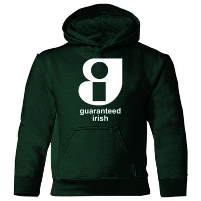 Guaranteed Irish - Heavy Blend Children's Hooded Sweatshirt S-Forest Green- Cool Jerseys - 1
