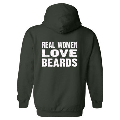Real Women Love Beards Heavy Blend™ Hooded Sweatshirt BACK ONLY S-Forest- Cool Jerseys - 1