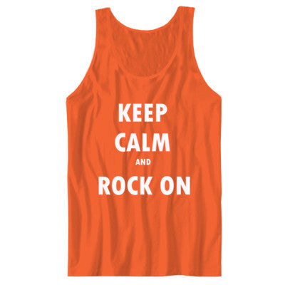 Keep Calm And Rock On - Unisex Jersey Tank - Cool Jerseys - 1