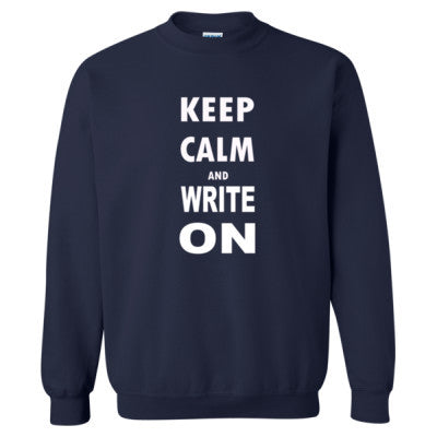 Keep Calm And Write On - Heavy Blend™ Crewneck Sweatshirt S-Navy- Cool Jerseys - 1