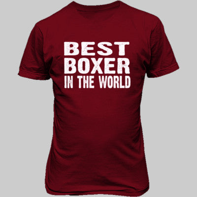 Best Boxer In The World - Unisex T-Shirt FRONT Print - Cool Jerseys - 1