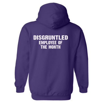 Disgruntled Employee of the month Heavy Blend™ Hooded Sweatshirt BACK ONLY S-Purple- Cool Jerseys - 1