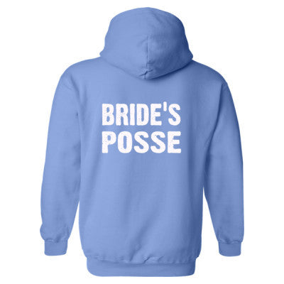 Bride's Posse Heavy Blend™ Hooded Sweatshirt BACK ONLY S-Carolina Blue- Cool Jerseys - 1