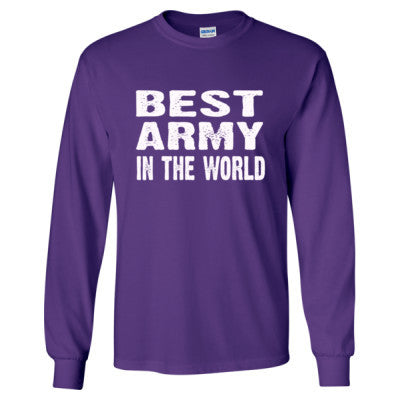 Best Army In The World - Long Sleeve T-Shirt - Cool Jerseys - 1