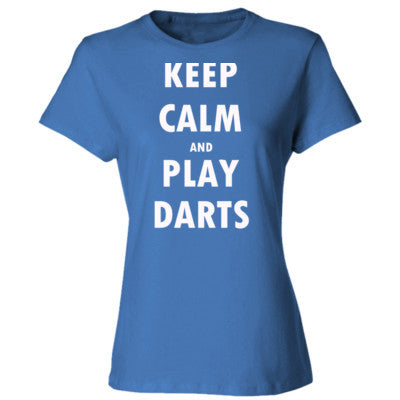 Keep Calm And Play Darts - Ladies' Cotton T-Shirt - Cool Jerseys - 1