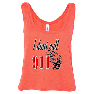 2nd Amendment Rights - Ladies' Cropped Tank Top S-Coral- Cool Jerseys - 1