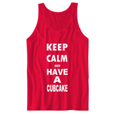 Keep Calm And Have A Cubcake - Unisex Jersey Tank S-Red- Cool Jerseys - 1
