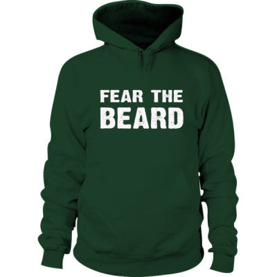 Fear The Beard Hoodie S-Forest Green- Cool Jerseys - 1