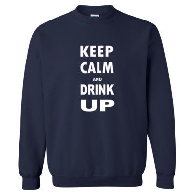 Keep Calm And Drink Up - Heavy Blend™ Crewneck Sweatshirt S-Navy- Cool Jerseys - 1