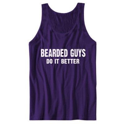 Bearded Guys Do It Better tshirt - Unisex Jersey Tank XS-Team Purple- Cool Jerseys - 1