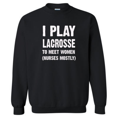 I Play Lacrosse To Meet Women S-Black- Cool Jerseys - 1