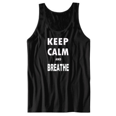 Keep Calm and Breathe - Unisex Jersey Tank - Cool Jerseys - 1