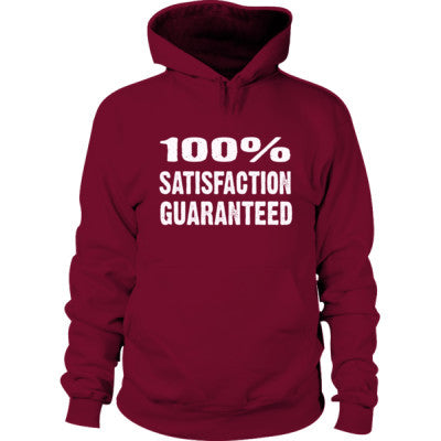 100% Satisfaction Guaranteed Hoodie S-Garnet- Cool Jerseys - 1