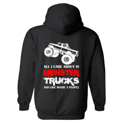 Cool Monster Trucks Hoodie S-Black- Cool Jerseys - 1