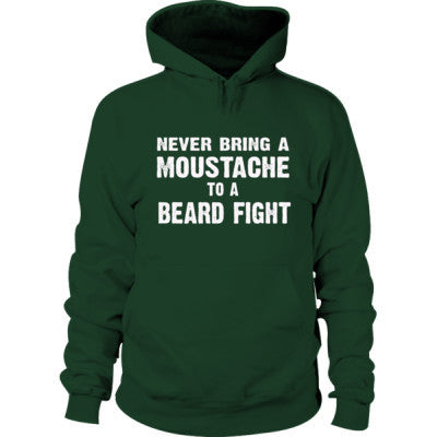 Never Bring A Moustache To A Beard Fight  Hoodie S-Forest Green- Cool Jerseys - 1