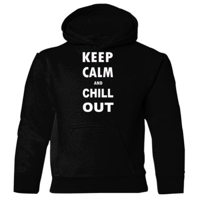 Keep Calm and Chill Out - Heavy Blend Children's Hooded Sweatshirt S-Black- Cool Jerseys - 1