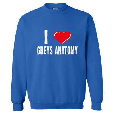 I Love Grey's Anatomy Shirts - Heavy Blend™ Crewneck Sweatshirt S-Royal- Cool Jerseys - 1