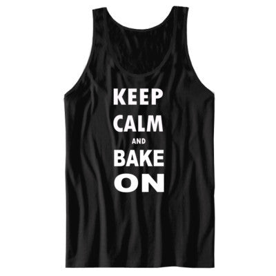 Keep Calm and Bake On - Unisex Jersey Tank S-Black- Cool Jerseys - 1