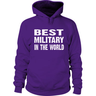 Best Military In The World - Hoodie S-Purple- Cool Jerseys - 1