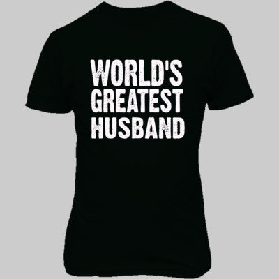 Worlds Greatest Husband - Unisex T-Shirt FRONT Print - Cool Jerseys - 1