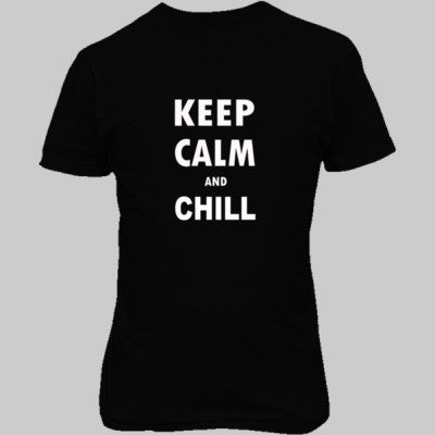 Keep Calm And Chill - Unisex T-Shirt FRONT Print - Cool Jerseys - 1