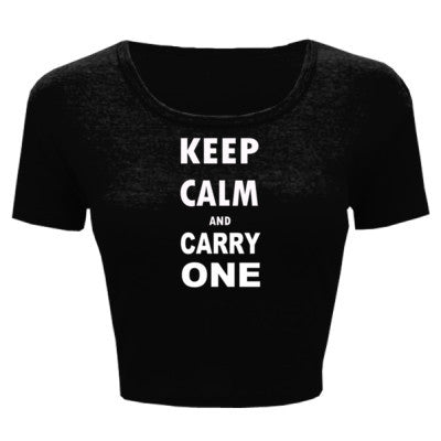 Keep Calm and Carry One - Ladies' Crop Top - Cool Jerseys - 1