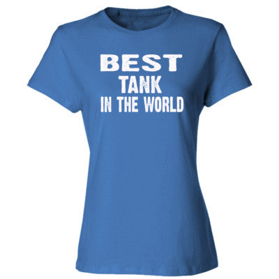 Best Tank In The World - Ladies' Cotton T-Shirt S-Carolina Blue- Cool Jerseys - 1
