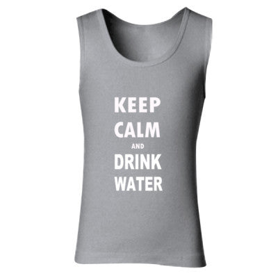 Keep Calm And Drink Water - Ladies' Soft Style Tank Top - Cool Jerseys - 1