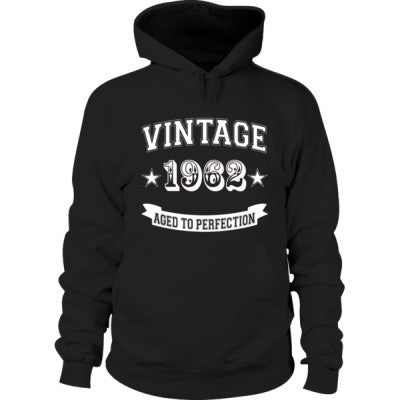 Vintage 1962 Aged To Perfection - Hoodie S-Black- Cool Jerseys - 1