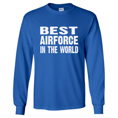 Best Airforce In The World - Long Sleeve T-Shirt S-Royal- Cool Jerseys - 1